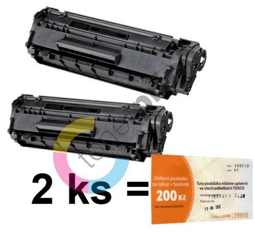 2ks kompatibilní toner HP Q2612A MP print + Tesco 200 Kč 1