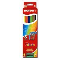 Pastelky 93506 KORES Trojhranné 6 barev JUMBO