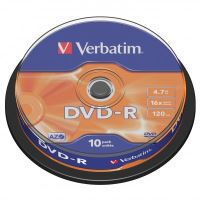 Verbatim DVD-R, DataLife PLUS, 4,7 GB, Scratch Resistant, cake box, 43523, 10-pack