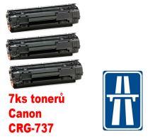 7ks kompatibilní toner Canon CRG-737, MP print + dálniční známka