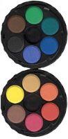 Vodové barvy 22,5mm 12 odstínů,kulaté