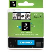 Páska Dymo D1 12 mm x 7m, černý tisk/průhledný podklad, 45010, S0720500