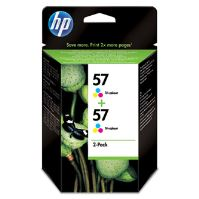 Cartridge HP 2-Pack C6657AE No. 57, C9503A, originál