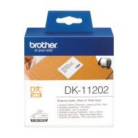 Štítky papírové Brother 62mm x 100mm, bílá, 300 ks, DK11202