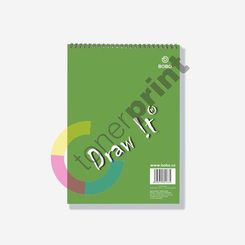 Bobo blok Draw It s horní vazbou A4, čtvereček, 40 listů 1