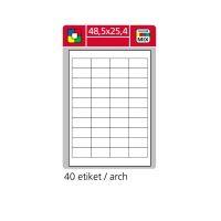 Samolepící etikety SK LABEL 48,5 x 25,4 mm červené