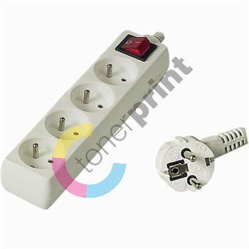 Prodlužovací přívod 230V, 7m,4 zásuvky + vypínač 1