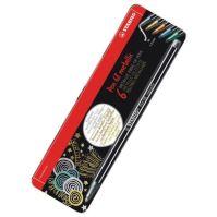 Sada fixů Pen 68 metallic, 6 různých barev, METAL BOX, 1 mm, STABILO