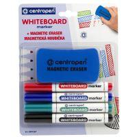Centropen 8559 Whiteboard 4 barvy, magnetická houbička