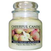 Cheerful Candle Vonná svíčka ve skle Čerstvé Jablko - Fresh Peeled Macintosh, 16oz