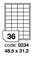 Samolepící etikety Rayfilm Office 48,5x31,2 mm 100 archů R0100.0234A