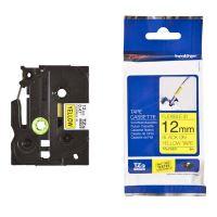 Páska Brother TZE-FX631, 12mm, černý tisk/žlutý podklad, flexibilní, originál