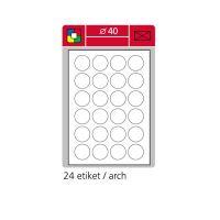 Samolepící etikety SK LABEL  kulaté průměr 40 mm, zelené