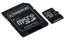 Kingston 64GB microSDXC CL10 UHS-I 80R + SD adapter