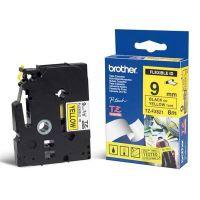 Páska Brother TZe-FX621, 9mm, černý tisk/žlutý podklad, flexibilní, originál