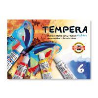 Temperové barvy, vodou ředitelné barvy v tubách 6 x 16 ml
