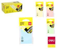Bloček samolepící STICK UP pastel 76 x 126mm mix 100l Deli EA01502