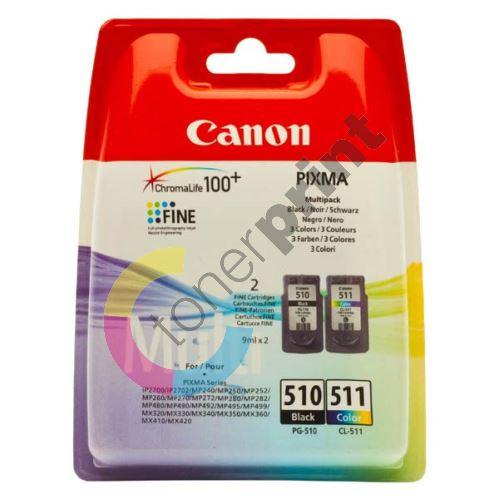 Cartridge Canon PG-510/CL-511, černá + barevná, 2970B010, originál 1