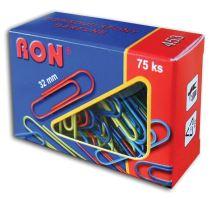 Spona dopisní 32mm 1bal/75ks, 453 ZN, barevná, RON