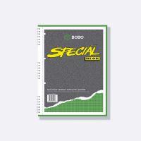 Bobo kroužkový blok Speciál A4, 50 listů, čtvereček