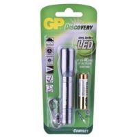 LED svítilna, 1xAAA, hliníková, stříbrná, GP LCE202+1x AAA 1,5V