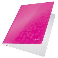 Desky s rychlovazačem Leitz WOW A4, růžové 2