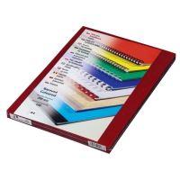 Přední fólie pro kroužkovou vazbu PRESTIGE, A4, 200 mic, červená, 100 ks