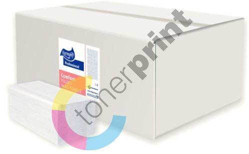 Ručníky skládané Harmony Professional V 3000ks, 23x24cm, bílé
