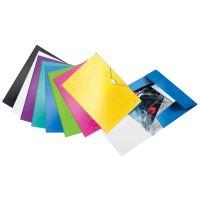 Desky s gumičkou Leitz WOW, A4, PP, černá 4