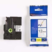 Páska Brother TZE-FX231, 12mm, černý tisk/bílý podklad, originál
