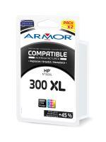 Cartridge HP CC641EE, CC642EE, pack, black+color, No. 300XL, Armor