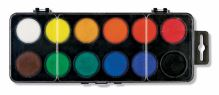 Vodové barvy 22,5mm, 12 odstínů, obdélnikové 1