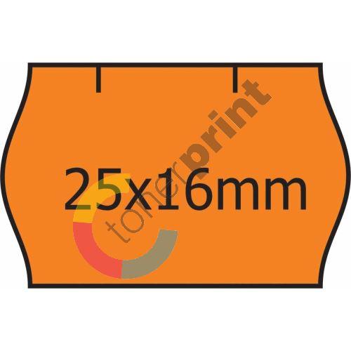Cenové etikety 25 x 16 CONTACT oranžová (40) 1