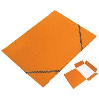 Odkládací mapa 3 klopy s gumou prešpán oranžová