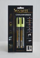 Střední křídový popisovač Securit, šířka hrotu 2-6 mm 2 kusy, žlutý