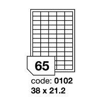 Samolepící etikety Rayfilm Synthetic 38x21,2 mm 100 archů, průhledné, R0400.0102A