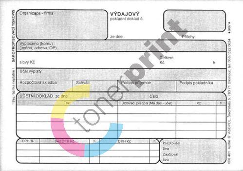 Výdajový pokladní doklad ASOPOL 050401 / 100 listů jeden blok 1