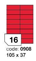 Samolepící etikety Rayfilm Office 105x37 mm 300 archů, matně červená, R0122.0908D