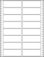 Etikety tabelační 100x36,1 dvouřadé