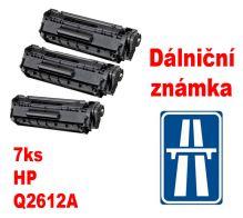 7ks kompatibilní toner HP Q2612A MP print + dálniční známka