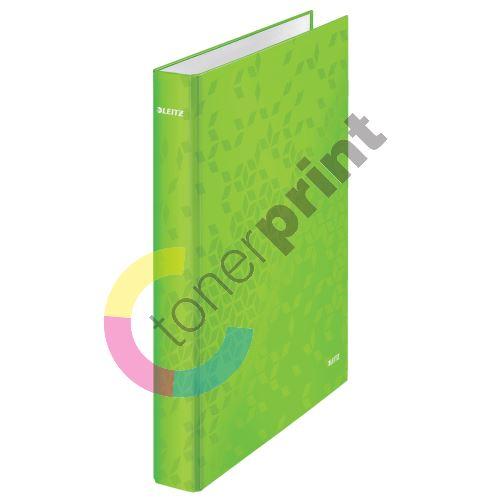 Kroužkový pořadač Wow, zelená, 4 kroužky, 40 mm, A4, karton, LEITZ 1