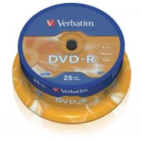 Verbatim DVD-R, DataLife PLUS, 4,7 GB, Scratch Resistant, cake box, 43522, 25-pack