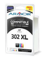 Cartridge HP F6U68A, F6U67A, pack, black+color, No. 302XL, Armor
