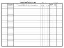 Provozní deník kotelny A4 OP1240