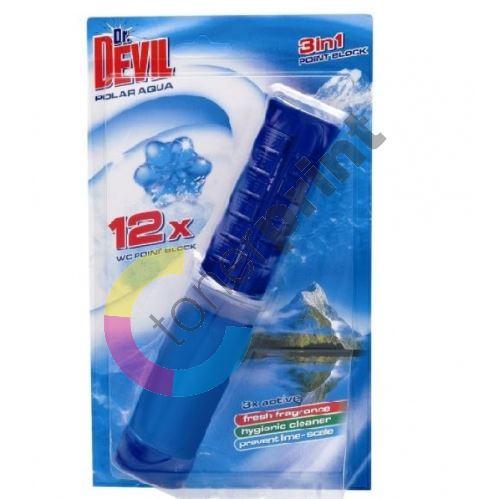 Dr. Devil 3in1, WC Point Block Polar Aqua 75 ml 1