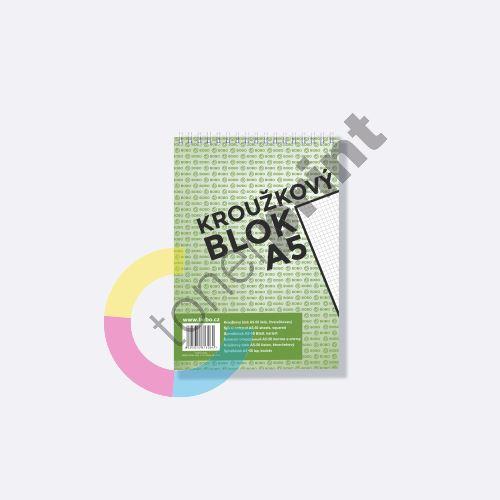 Bobo kroužkový blok A5, horní spirála 50 listů, čtvereček 1