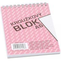 Bobo kroužkový blok A6, horní spirála 50 listů, linka 4