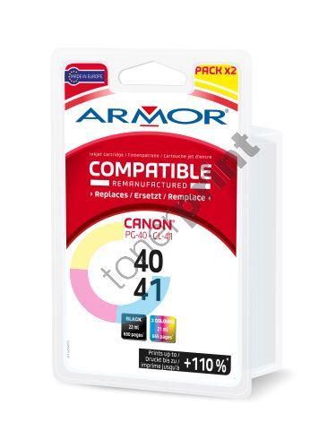Cartridge Canon PG-40, CL-41, pack, black+color, Armor 1