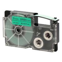 Páska Casio XR-9GN1 9mm černý tisk/zelený podklad