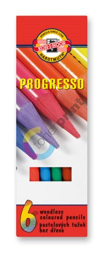 Pastelky v laku Progresso 6 barev 1
